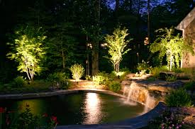 warm landscape led lighting kits create dramatic outdoor