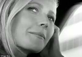 car commercial girl short blond hair gwyneth paltrow exudes business chic in hugo boss perfume