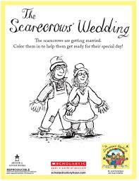 scarecrows u0027 wedding coloring sheet coloring coloringsheet