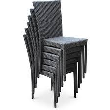 chaise tress e lot de fauteuils de table en rsine tresse naturel malibu table et