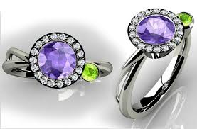 engagement rings with birthstones birthstone engagement rings 2 rings