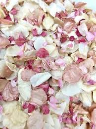 real petals gold pink ivory dried biodegradable wedding confetti real