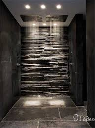 bathroom slate tile ideas modern master bathroom with oregon tile and marble montauk black