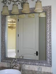 Antique Bathroom Mirrors Sale by Antique Black Polished Oak Wood Bathroom Mirror Among Chrome Metal