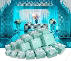 Tiffany Blue Wedding Centerpiece Ideas by 6pcs Set Tiffany Blue Ideas Wedding Decoration Boxes Theme Wedding