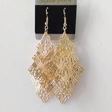 eco earrings new style 9 cm rhombus hub tassel earrings drop handmade earrings