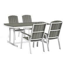 Metal And Wood Furniture Walker Edison Furniture Company Coastal Grey White 5 Piece Metal