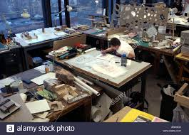 The Drafting Table Architecture Student At Drafting Table At The Yale School Of Stock