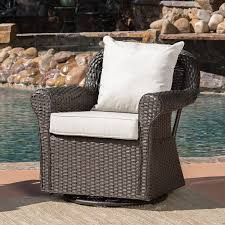 amazon com augusta patio furniture outdoor wicker swivel rocker