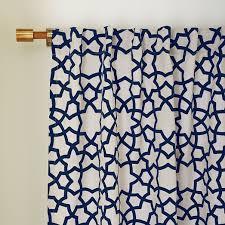 Moorish Tile Curtains Flocked Curtain Regal Blue West Elm Room To Play
