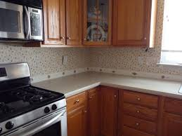wallpaper backsplash kitchen kitchen diy faux kitchen backsplash finish metal wallpaper wood