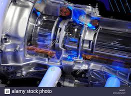 lexus hybrid drivetrain lexus hybrid car electric motor close up stock photo royalty