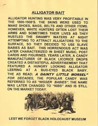 were black children used as alligator bait in the american south