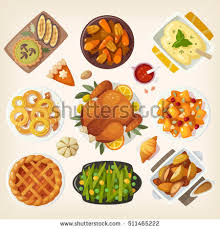 Thanksgiving Traditional Meal Set Traditional Food Icons Stock Vector 134243666 Shutterstock