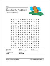 groundhog wordsearch crossword puzzle