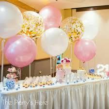 jumbo balloons jumbo balloons plain confetti filled to decorate a dessert