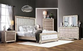 Nightstands With Mirrored Drawers Mirrored Bedroom Furniture White Grey Colors Covered Bedding