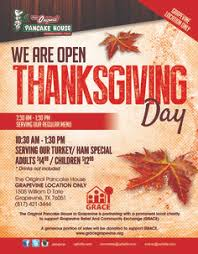 open thanksgiving day at grapevine location only we are open