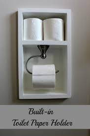 bathroom toilet paper holders this is such a great idea built in toilet paper holder friday