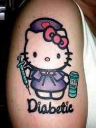 diabetes type 1 circle symbol and diabetes ribbon