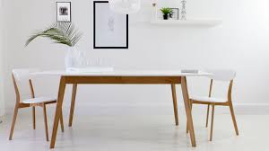 Modern White Dining Room Table Ellie White Oval Extending Dining Table And Lena Dining Chairs
