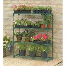 greenhouse staging 4 tier shelving outdoor stand plant flower