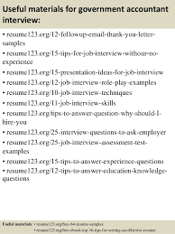 resume exles for government top 8 government accountant resume sles