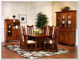 Light Oak Dining Room Sets 7 Pieces Oak Mission Style Dining Room Set With High Back