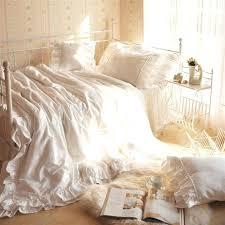ruffle white duvet cover buy white ruffle romantic lovely bedding