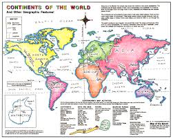 Blank Map Of Continents And Oceans by Continent Basics Maps For The Classroom
