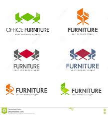 Office Furniture Design Concepts Office Furniture Logo Design Concept Stock Vector Image 76643659