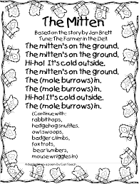 so to accompany the book the mitten sung to the tune of