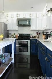 Navy And White Modern Kitchen - Navy kitchen cabinets