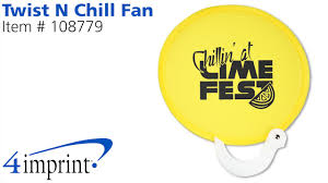 promotional fans logo twist n chill fan promotional fans by 4imprint