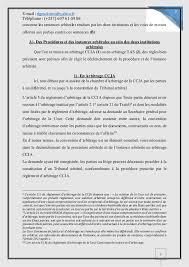 chambre d arbitrage de arbitrage ccja et arbitrage tas