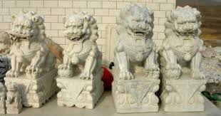fu dog for sale marble carving factory marble garden carvings 2