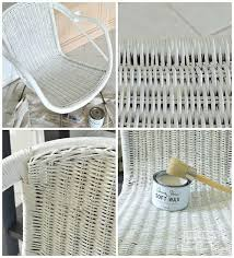 chalk paint wicker chair makeover