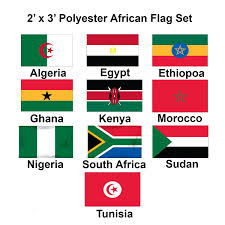 Afican Flag 2x3ft Set Of 10 African Flags