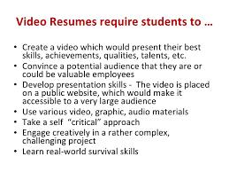 Best Video Resume by Student Video Resume Aple