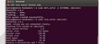 format exfat partition ubuntu how to format external hard disk to exfat filesystem in ubuntu
