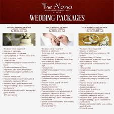 wedding packages our wedding packages start from the alana hotel convention