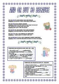 88 free esl conjunctions worksheets