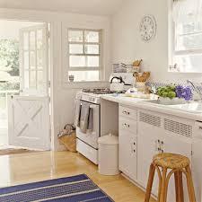 Coastal Kitchen Seattle - small white cottage kitchen design home design ideas