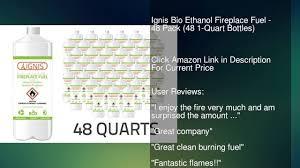 ignis bio ethanol fireplace fuel 48 pack 48 1 quart bottles