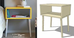 Build A End Table Plans by Remodelaholic 15 Easy Diy Modern Side Table Building Plan