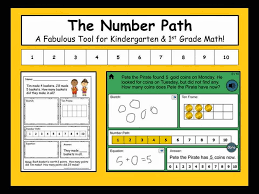 number lines are common in primary classrooms but a number path