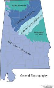 4 Corner States Map by Alabama Geography From Netstate Com