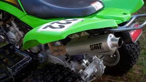 kawasaki kfx 700 backfiring follow up is it fixed youtube