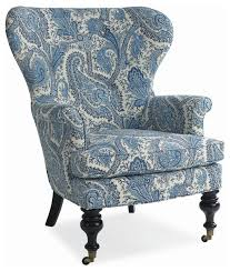 Blue And White Accent Chair Stunning Blue And White Accent Chair On Small Home Decoration