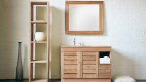 Bathroom Furniture Sets Take Advantages Of Teak Wood To Be Used As Furniture In Bathroom